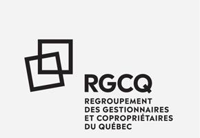 Logo noir du RGCQ Regroupement des Gestionnaires et Copropriétaires du Québec